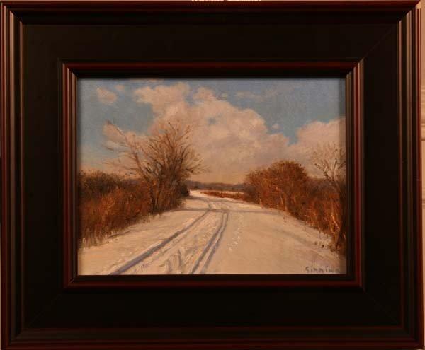 "90: ""Wintery Walk,"" Dennis Sirrine"