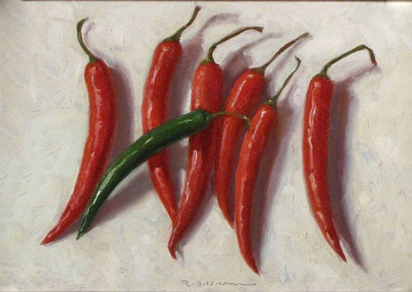 "2: ""6 Red & 1 Green Pepper"" by Rick Daskam"