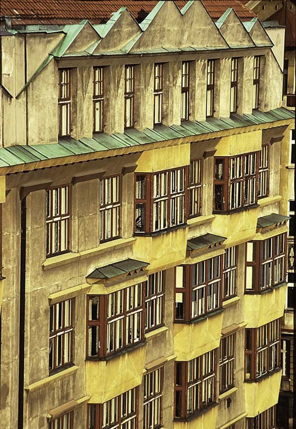 "17: ""Facade-Prague"" by Harvey Hellering"