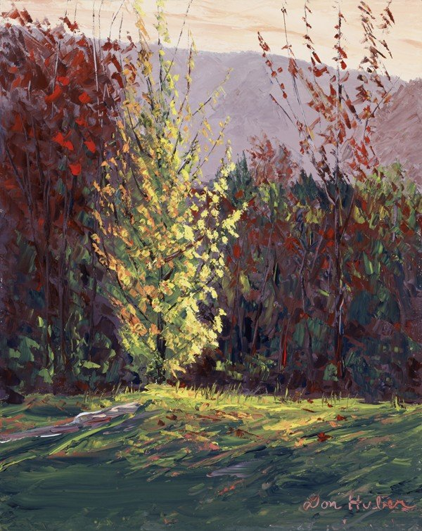 """30: """"Trees Behind Southern VT. Art Center"""" Don  Huber"""