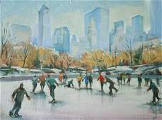 """""""Ice Skating in Central Park"""" by Michele Byrne"""