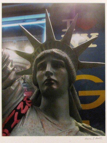"""70: """"Lady Liberty Outside Chelsea Bodega"""" Laura Smith"""