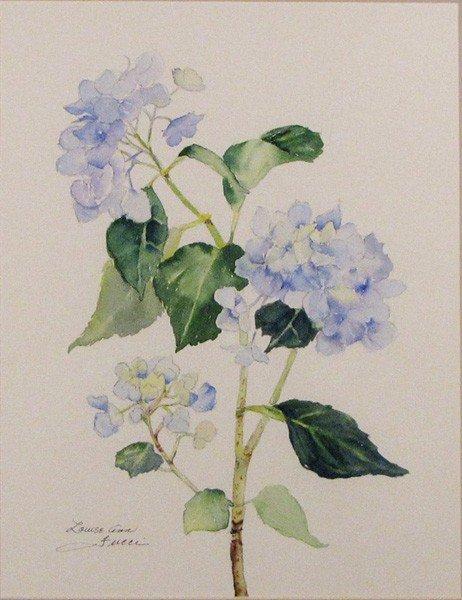 "73: ""Blue  Hydrangeas "" by Louise Fucci"