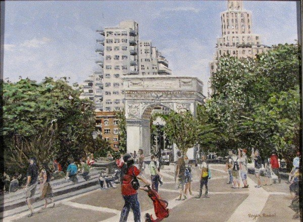 """82: """"Weekend at Washington Square Park"""" by Roger Rossi"""