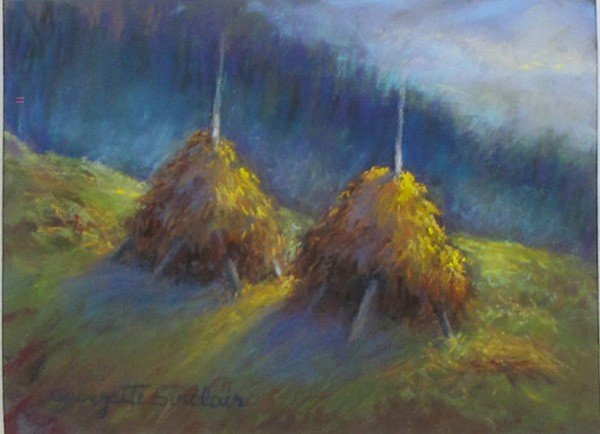 "144: ""Haystacks in Carpathian Mountains"""