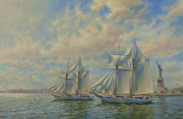 "147: ""Cruising Liberty Harbor"" by William A. Suys Jr."