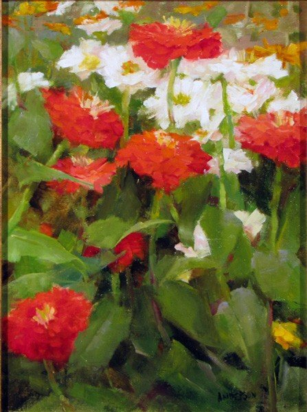 "164: ""Summer Zinnias"" by Kathy Anderson"