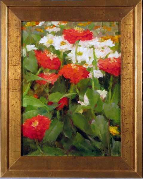 "164: ""Summer Zinnias"" by Kathy Anderson - 2"