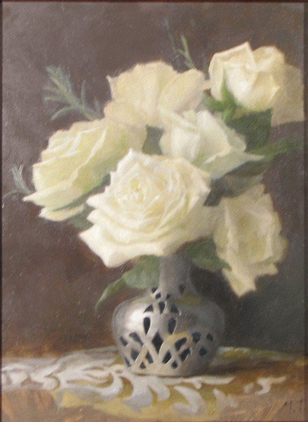 "169: ""Roses in Sterling Vase"" by Maureen Thompson"