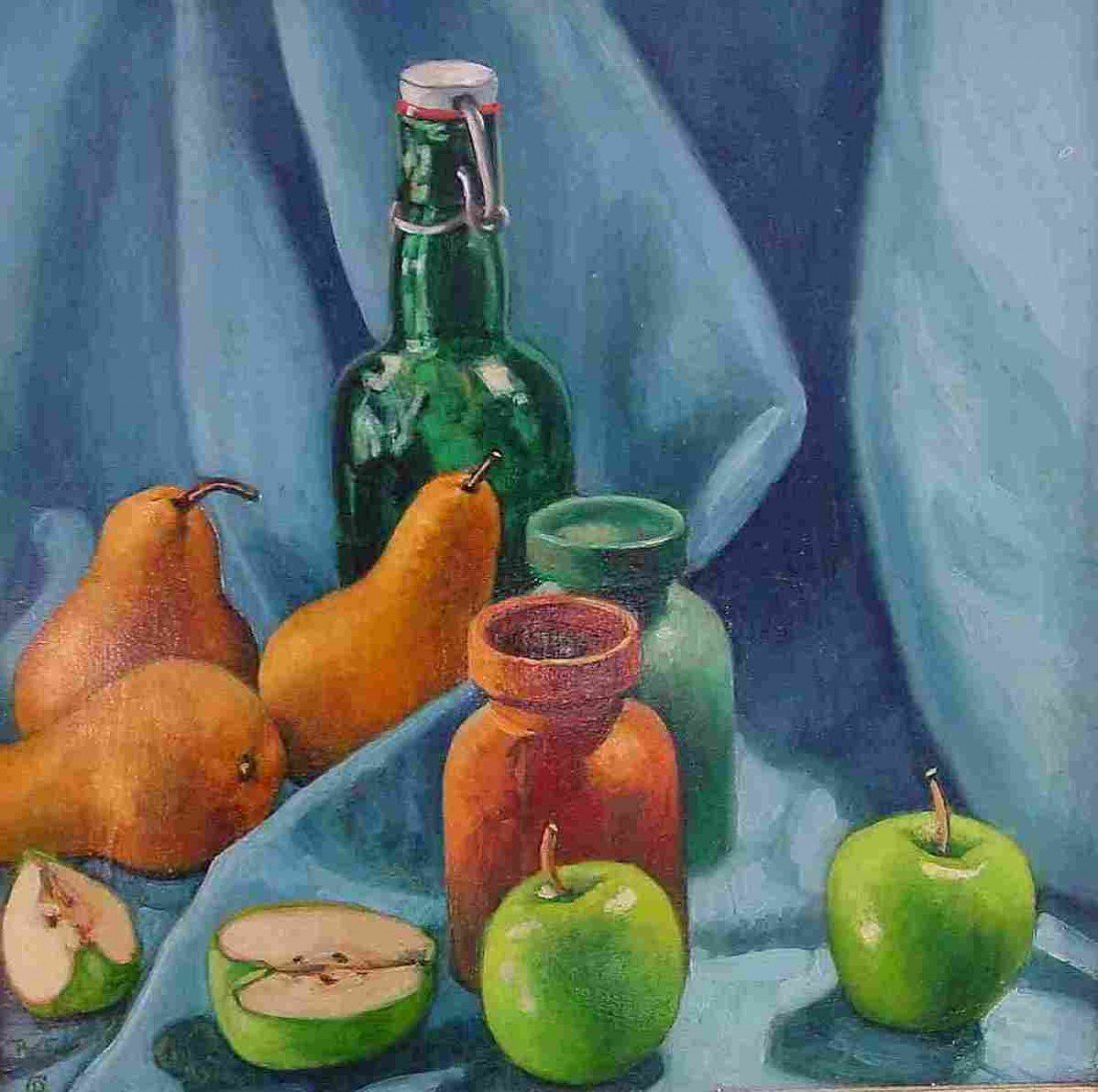 """18: """"Still Life with Granny Smith Apples & Pears"""""""