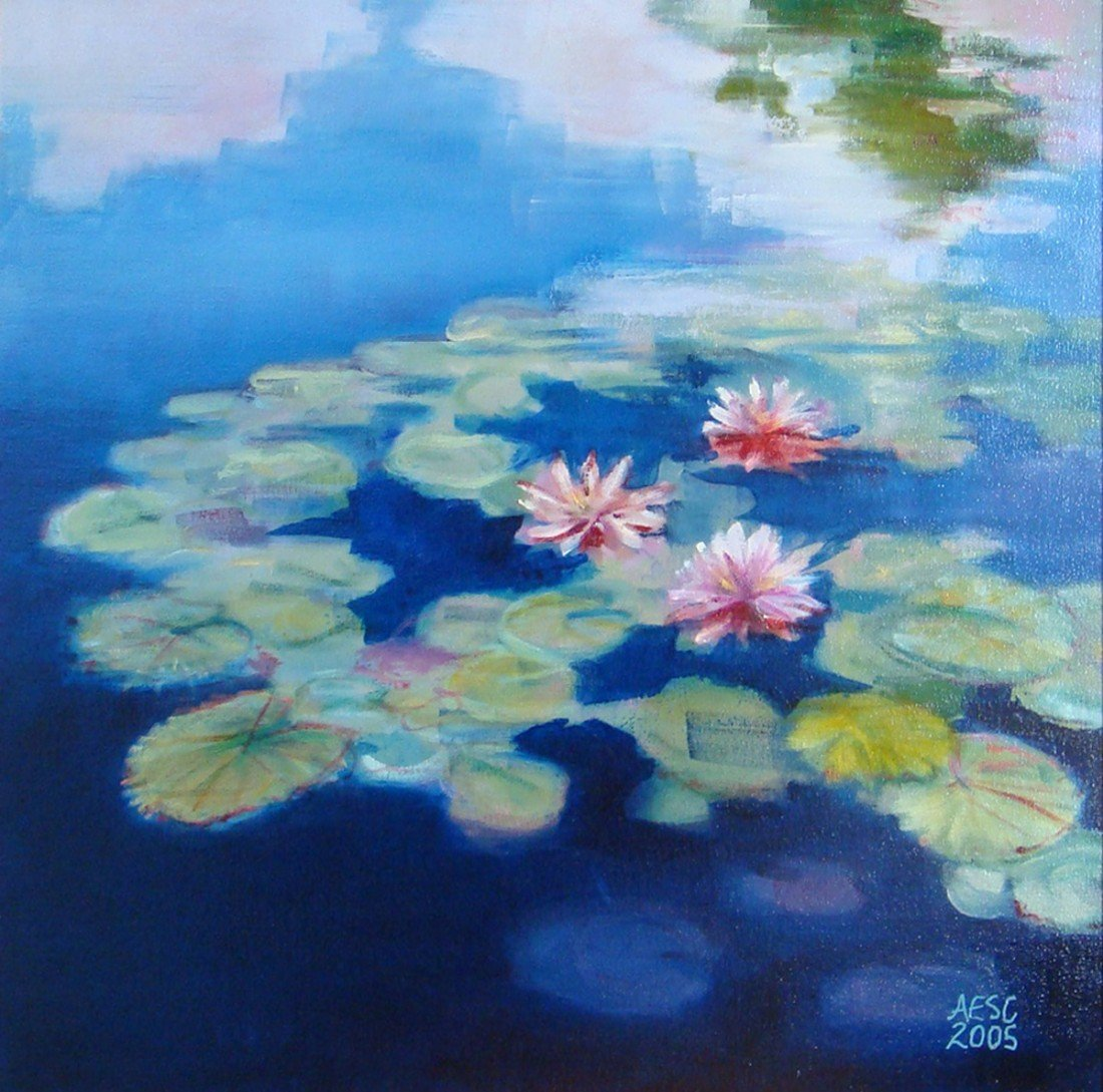 """80: """"Waterlillies ,"""" Annie Shaver-Crandell"""