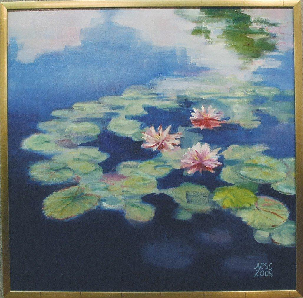 """80: """"Waterlillies ,"""" Annie Shaver-Crandell - 2"""