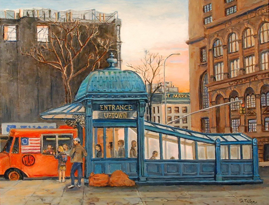 "174: ""Astor Place Subway,"" Carole Teller"
