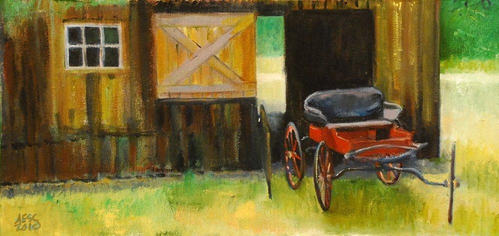 """165: """"Barn Door and Buckboard"""", Annie Shaver-Crandell"""