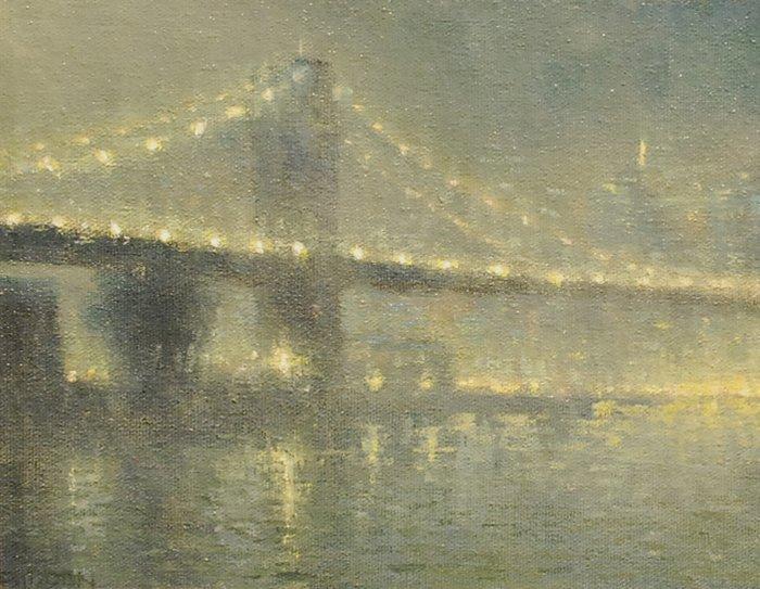 """167: """"Through the Fog, Brooklyn Bridge"""", Michael Budden"""