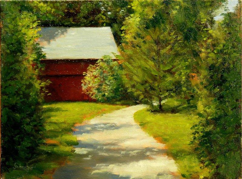 """""""Setauket Barn"""", Laurence Johnston,"""
