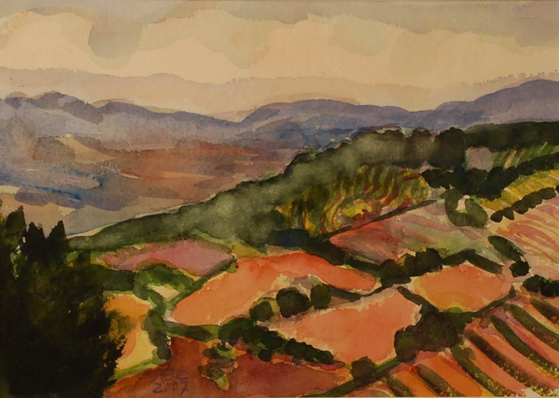 """""""Umbrian Landscape"""", Annie Shaver-Crandell,"""