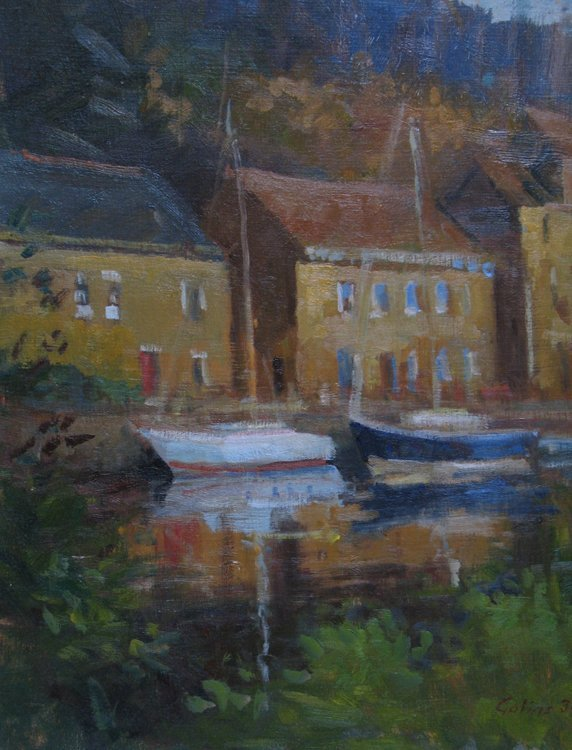 """""""Boats on the Quay"""", Michelle Golias,"""