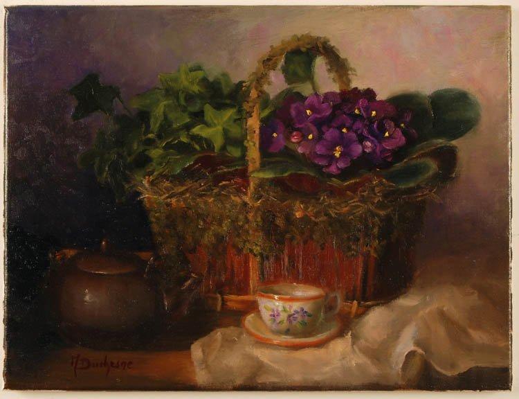 """""""African Violets"""",   Mireille L. Duchesne"""
