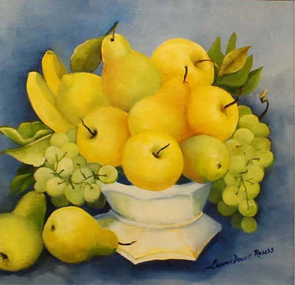 """Fruit in White Dish"", Laurel Devoti Reuss"