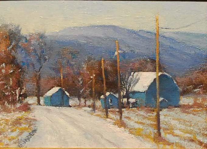 """Vermont Hills Winter"", Michael Budden,"