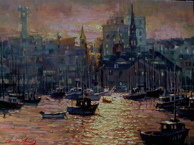 """New London Harbor"", Christopher Zhang,"
