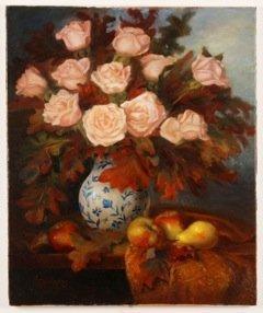 """""""Rose & Oak Leaves"""", Mireille Duchesne"""