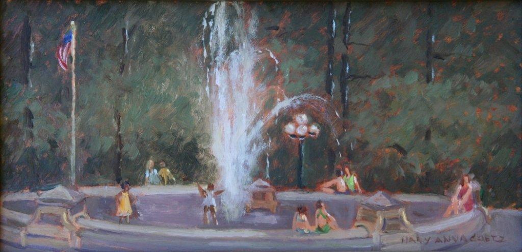 """Summer Day at Washington Square Park"", Mary Anna Goetz"
