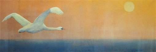 Mute Swan in The Morning Mist  Sharon WayHoward