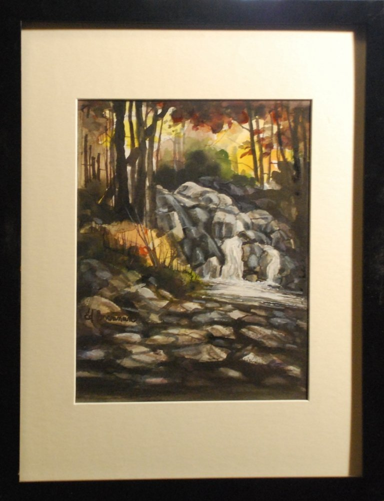 """Upstate Waterfall"", Ed Brennan"