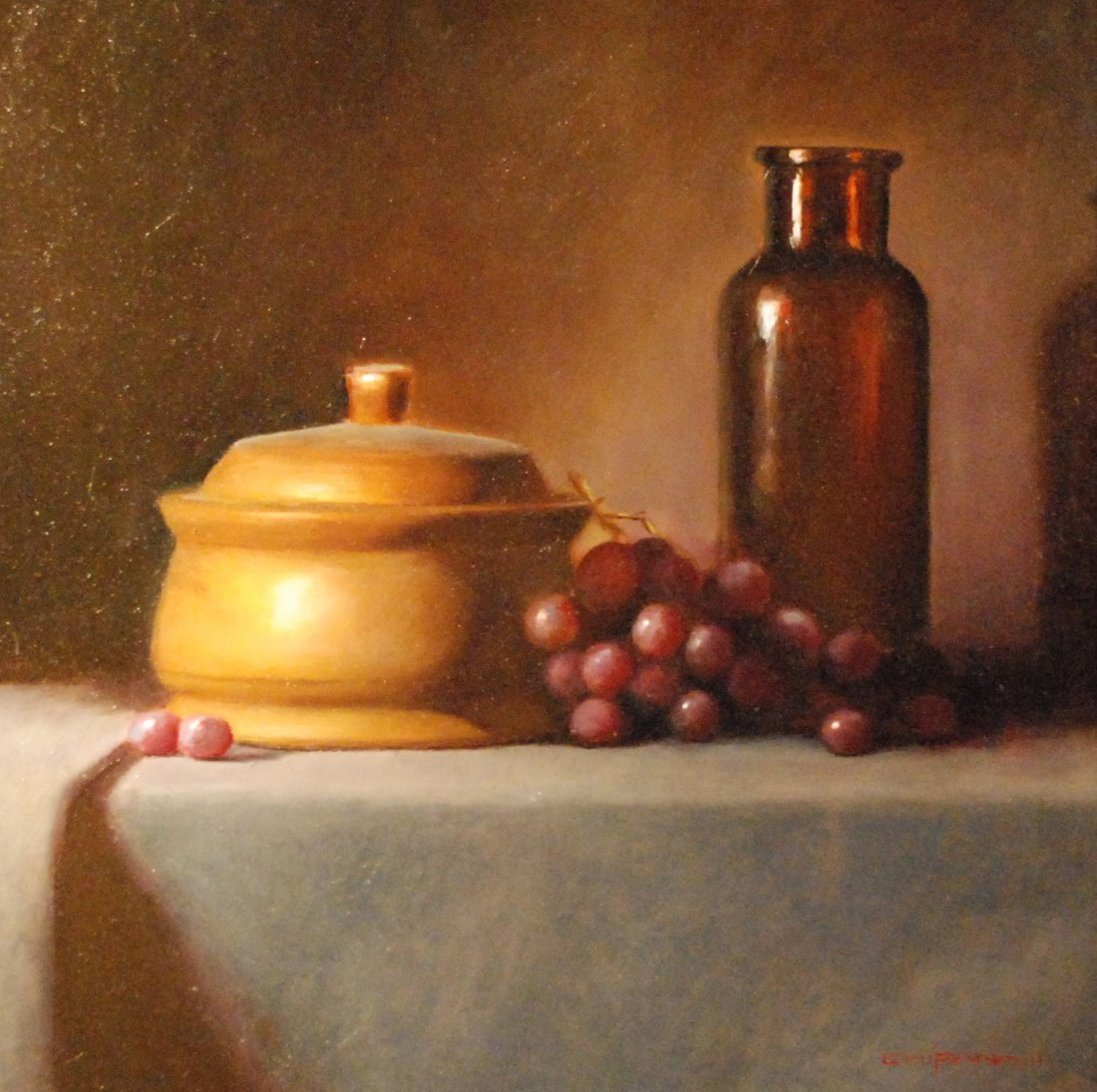 """""""Bottle with Grapes"""", Leeanna Chipana"""