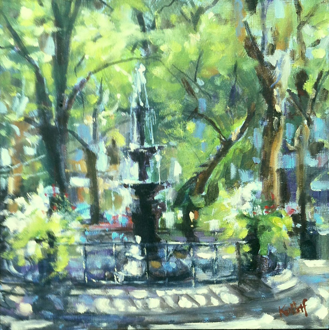 """""""Fountain, Madison Square Park"""", Anne Kullaf"""