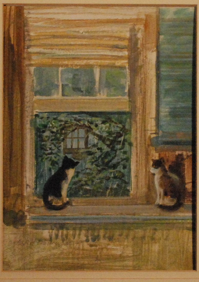 """Looking at the Rain"", Albert Wasserman"