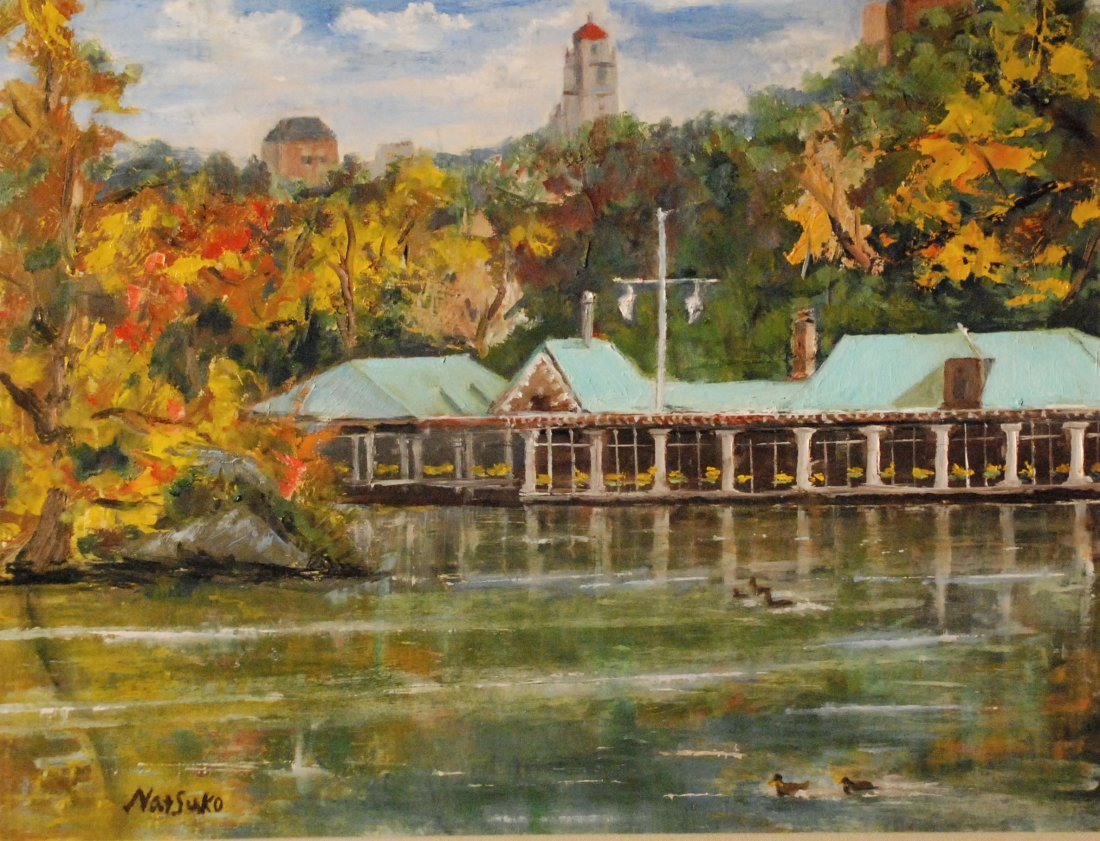 """Boathouse at Central Park"", Natsuko Takami"
