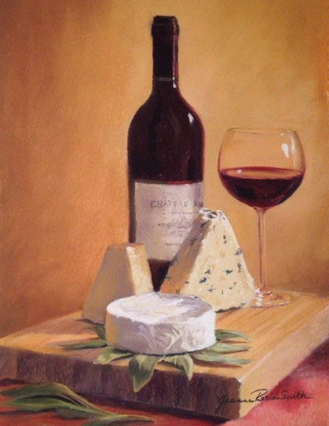 """Cab and Camembert"", Jeanne Rosier Smith"
