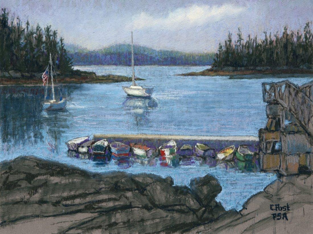 """Fishing Village Sorrento, Me"", Claudia Post"