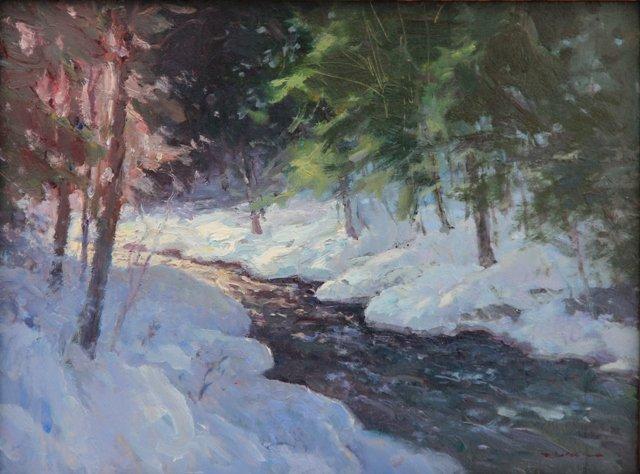 """Stream in the Snow"", Rick Daskam"
