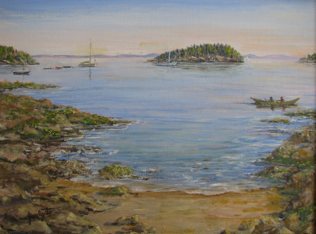 """Bustling Bar Harbor"", Carolyn Jundzilo"