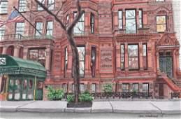 """"""" National Arts Club, Gramercy Park """", Ann Woodward"""