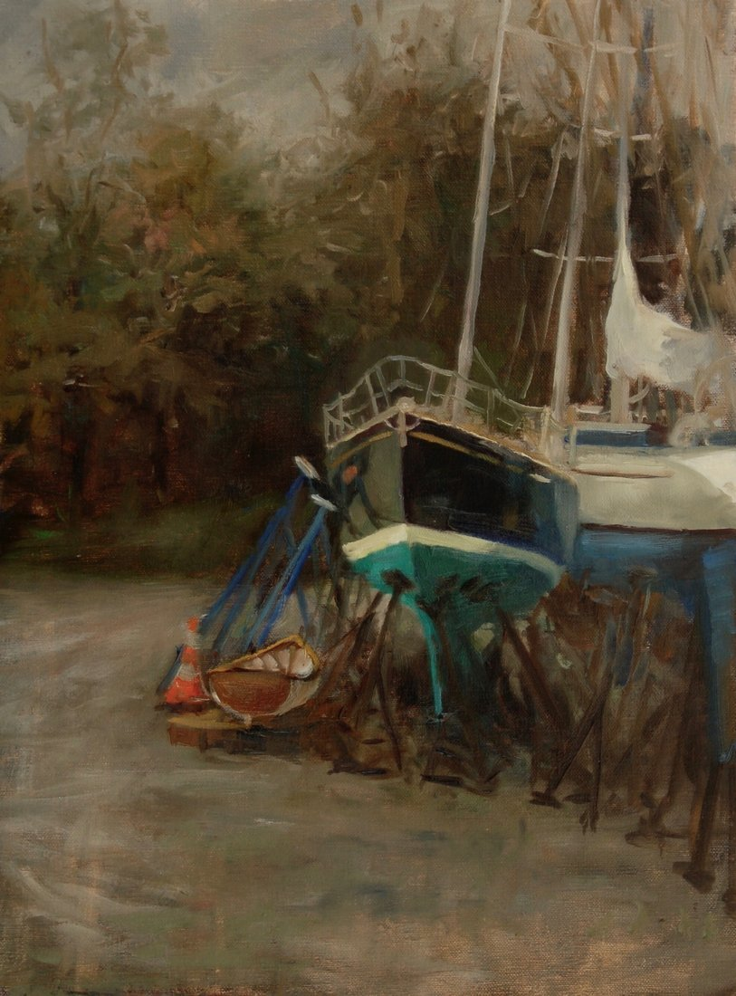 """Jamestown Boatyard"", Sue Gilkey"
