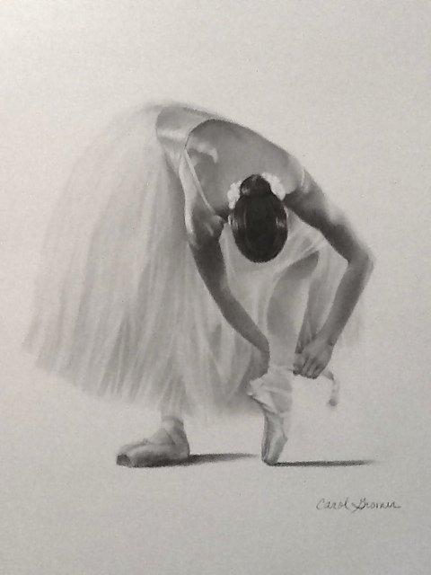 "Carol Gromer, ""Ballerina Tying Shoe"""