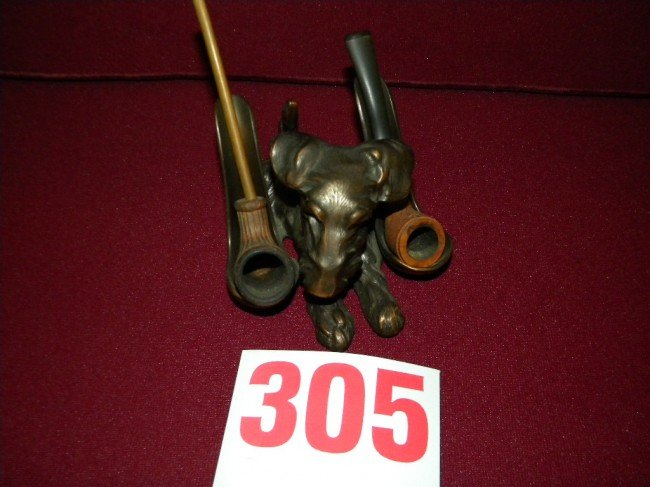 305: bronze pipe stand
