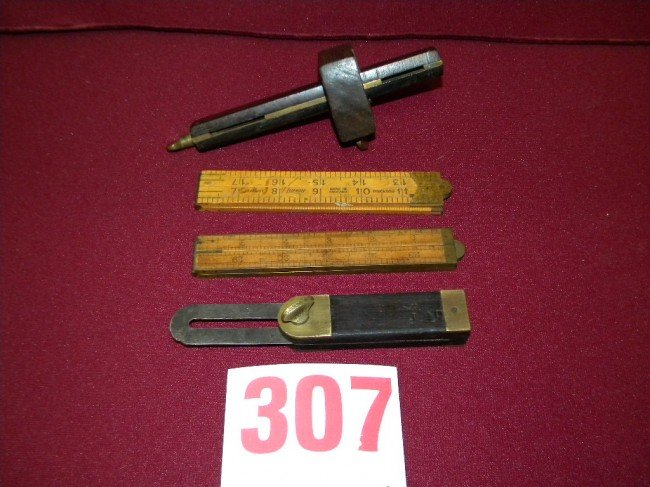307: lot of old carpenters tools