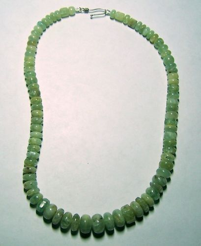 STERLING SILVER KUNZITE BEADS NECKLACE
