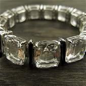 315: 18k gold Rock Crystal Seaman Schepps Bracelet