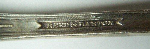 336: RARE 1901 REED & BARTON SILVER SERVING SPOON - 5