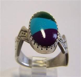 Roderick Tenorio Navajo sterling silver ring