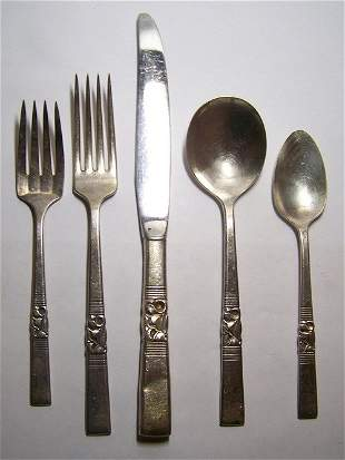 COMMUNITY SILVER 27 PIECES SILVERWARE SET FOR 5