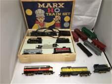 Marx Postwar Rock Island HO Scale Train Set Plus