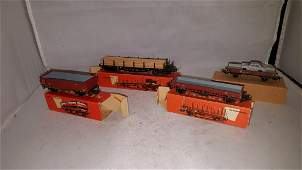 Four (4) Vintage Maarklin HO Scale Freight Cars